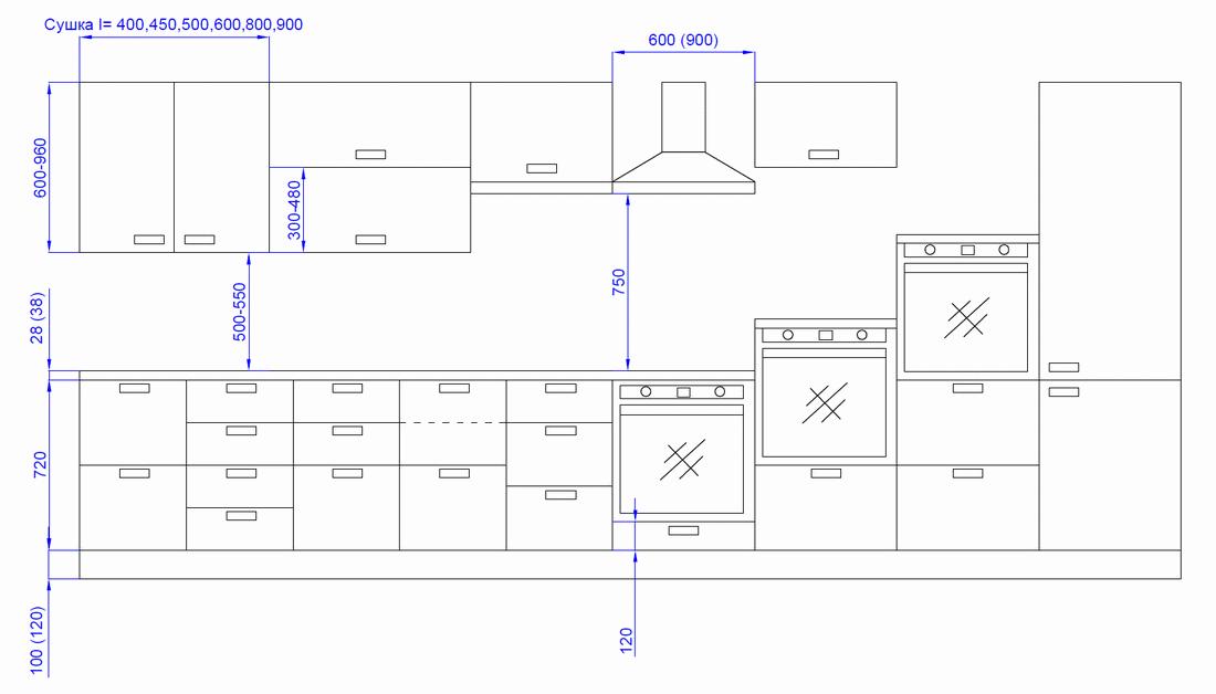 работы отделения растояние между столешницей и навесными шкафами диффузии, образуют матрицу