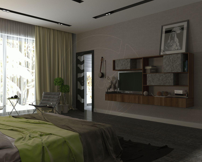 Коттедж в современном стиле. Спальня 4