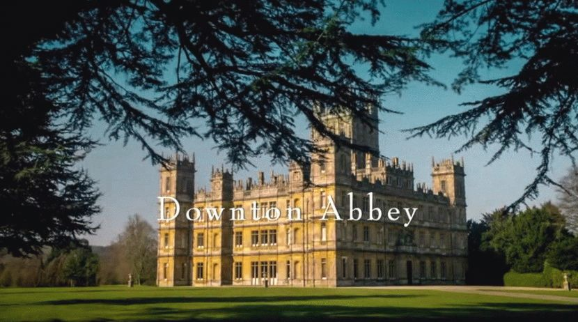 Downton Abbey _zastavka. Английский дворцовый (Викторианский) стиль в архитектуре. Интерьер в английском стиле. Английский парк.