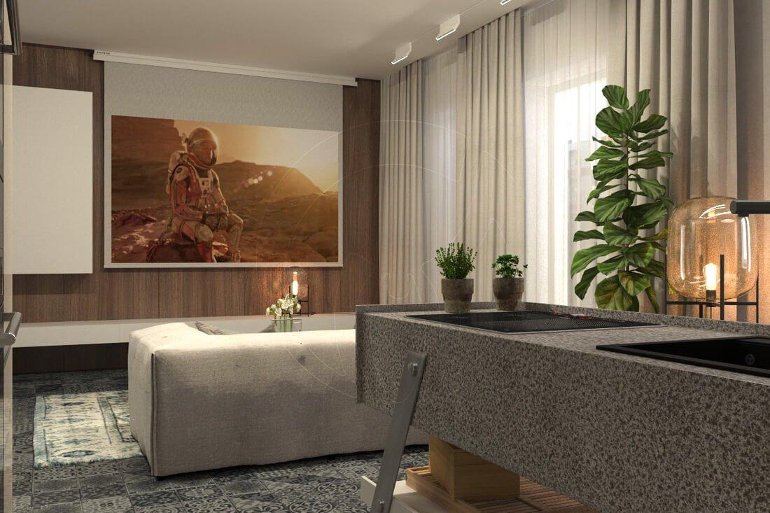Квартира в современном стиле минимализм. Двухкомнатная квартира в Одессе. 1