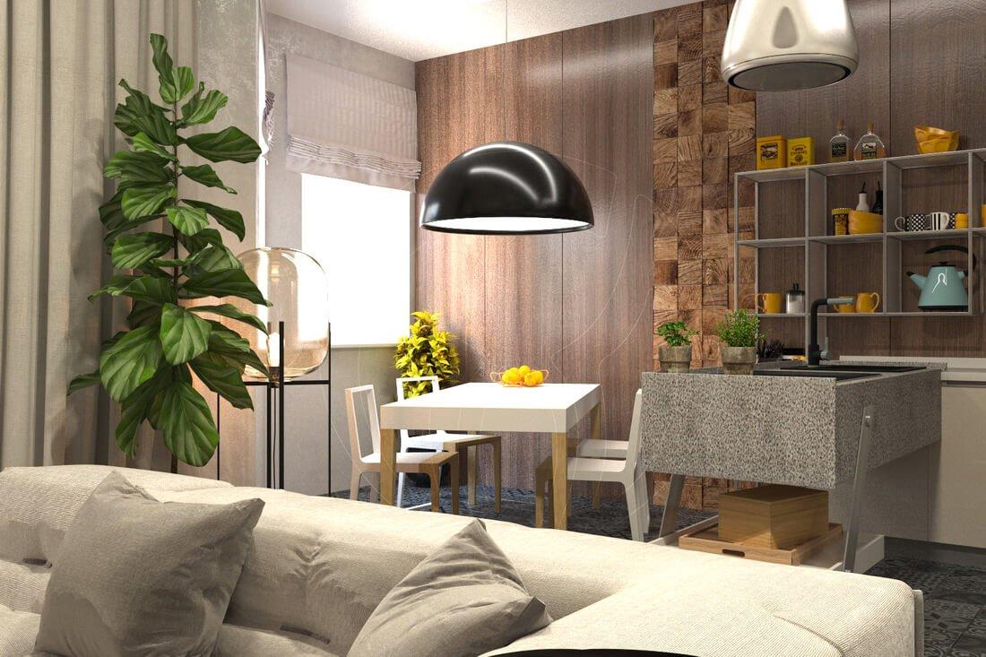 Квартира в современном стиле минимализм. Двухкомнатная квартира в Одессе. 2
