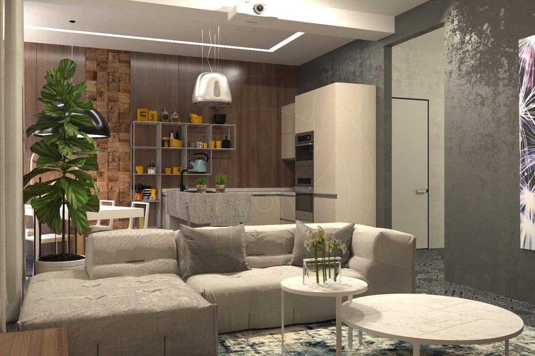 Квартира в современном стиле минимализм. Двухкомнатная квартира в Одессе. 3