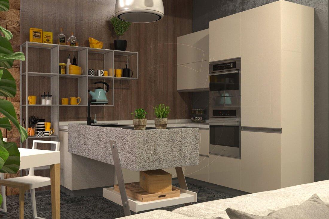 Квартира в современном стиле минимализм. Двухкомнатная квартира в Одессе. 4