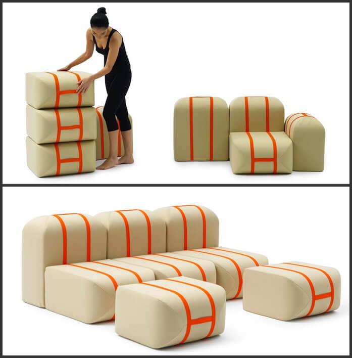 Кресло «Self-made Seat». Дизайнер Matali Crasset.Блоки для сидения.