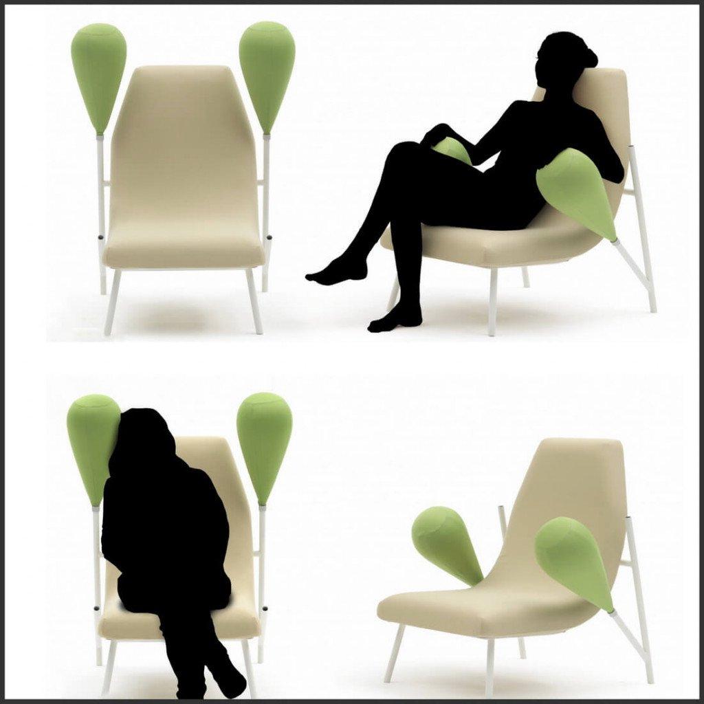 Кресло- трансформер «Extension de générosité» Дизайнер Matali Crasset.