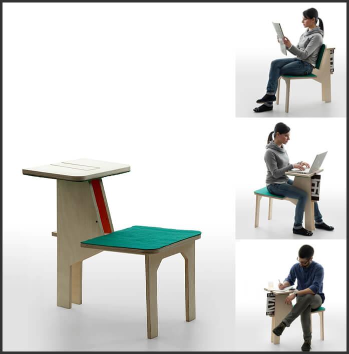 Кресло- стол «Double side». Дизайнер Matali Crasset