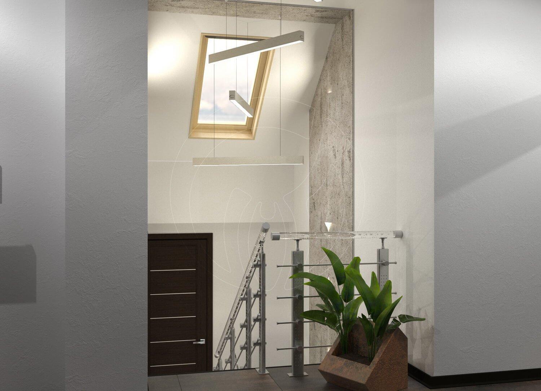 Коридор и лестница в современном стиле (минимализм)