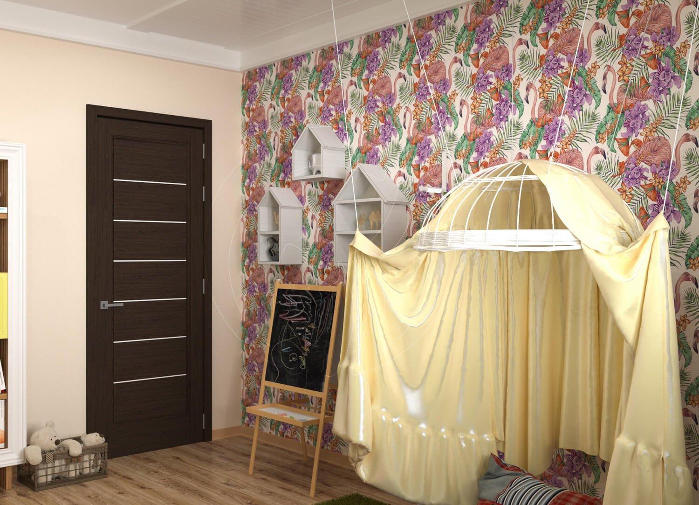 """Игровая комната для девочки в стиле """"Алиса в зазеркалье"""". На фото стилизованый шатёр"""