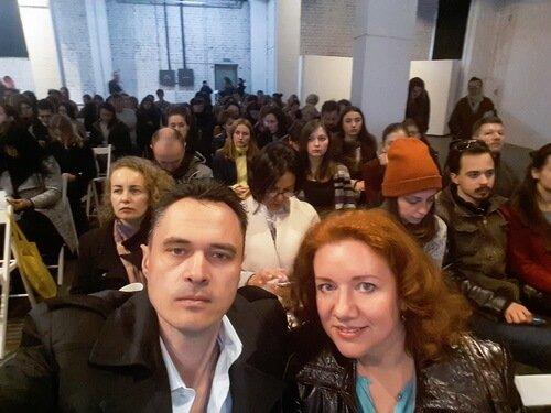 На фото дизайнеры интерьера Виктор и Ольга. Matali Crasset в Украине. Цвиль.