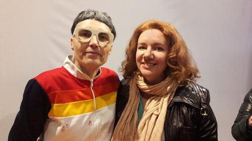 НА фото дизайнеры Matali Crasset и Ольга Цвиль