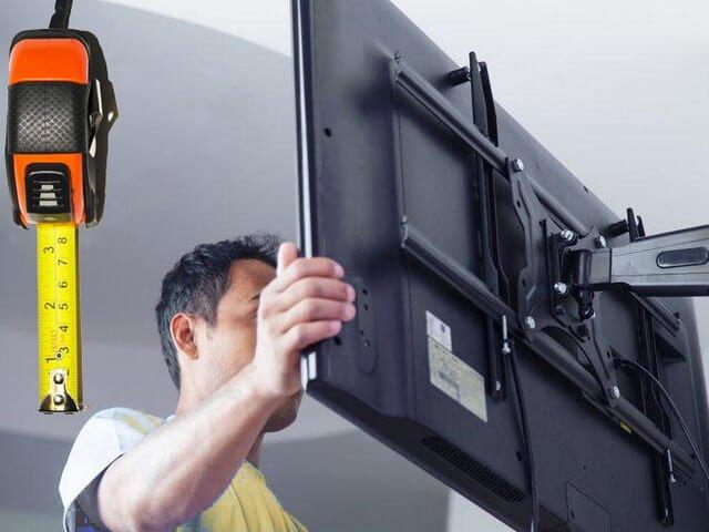 На какой высоте должен располагаться телевизор.