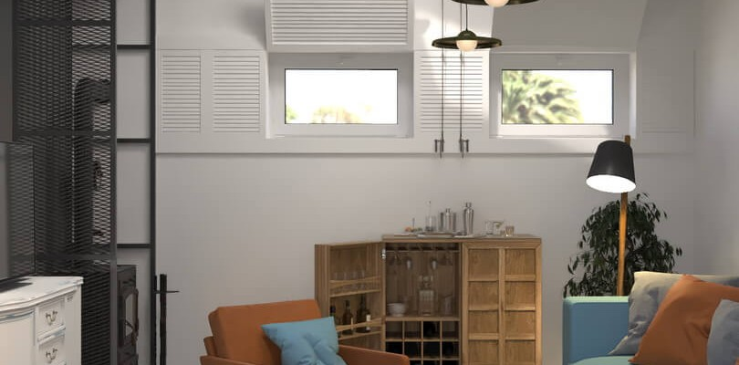 Дизайн интерьера сауны в стиле Loft / Industrial.