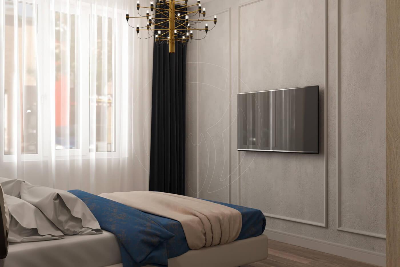 """Квартира в стиле """"современная классика"""". Фото спальни в современной классике"""