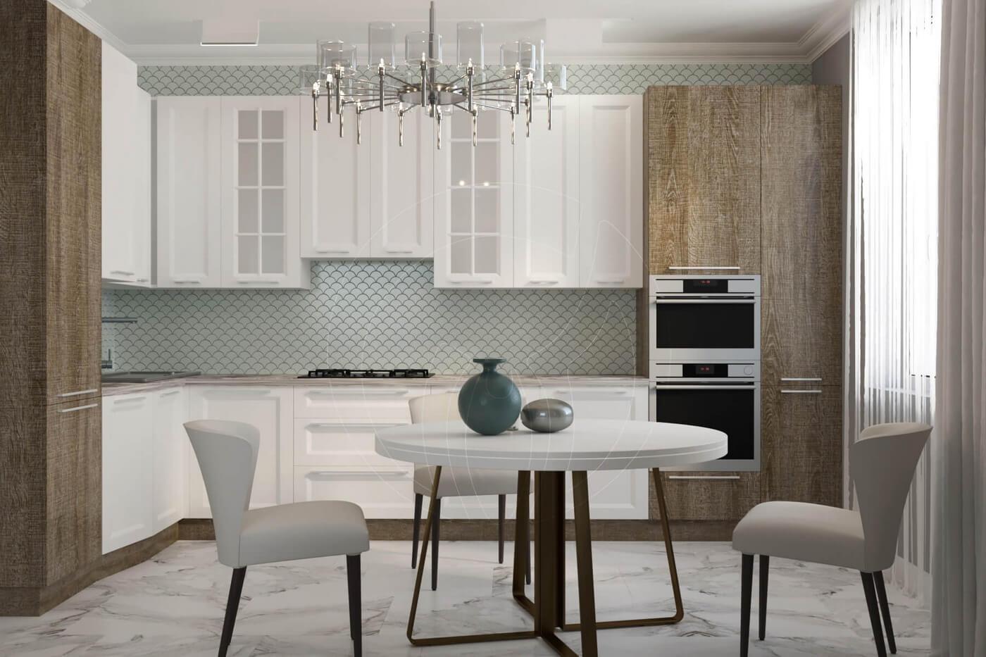 """Квартира в стиле """"современная классика"""". Кухня в современной классике"""