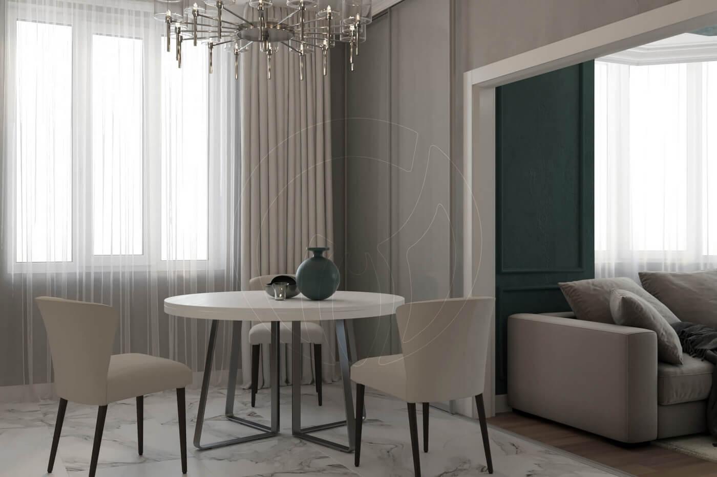 """Квартира в стиле """"современная классика"""". Кухня/студия в современной классике"""