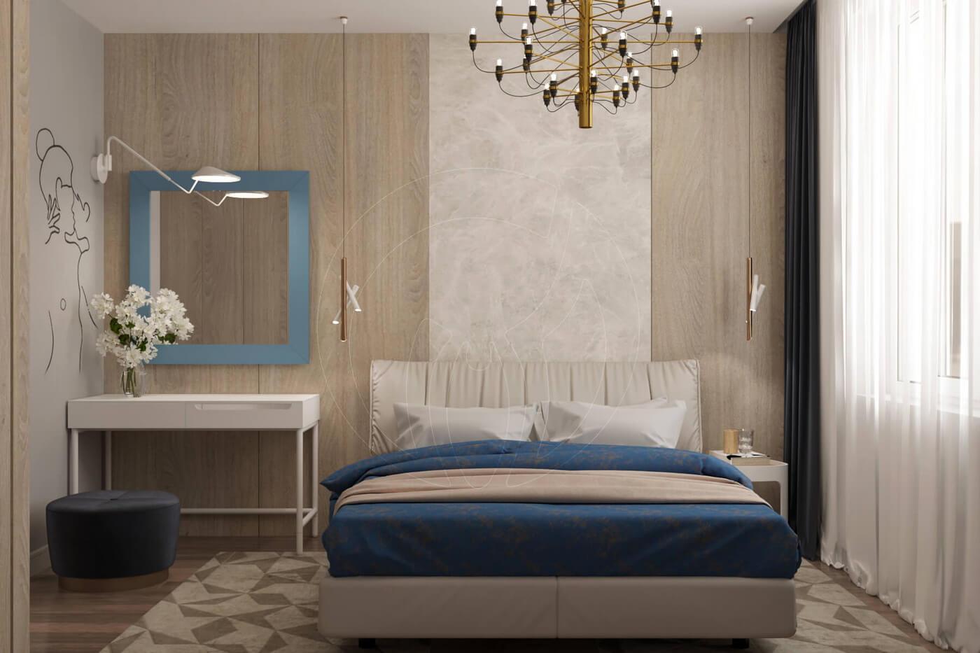 """Квартира в стиле """"современная классика"""". Спальня в современной классике"""