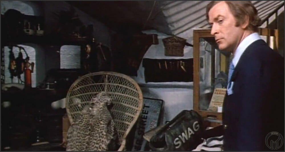 """Кресло """"Павлин"""" (Armchair Peacock) в кино. Кадры из фильма """"Игра навылет/Sleuth"""" (1972) _1"""