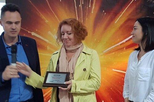 Награждение победителей конкурса Maniglia Nuova 2017. Виктор Ольга Цвиль