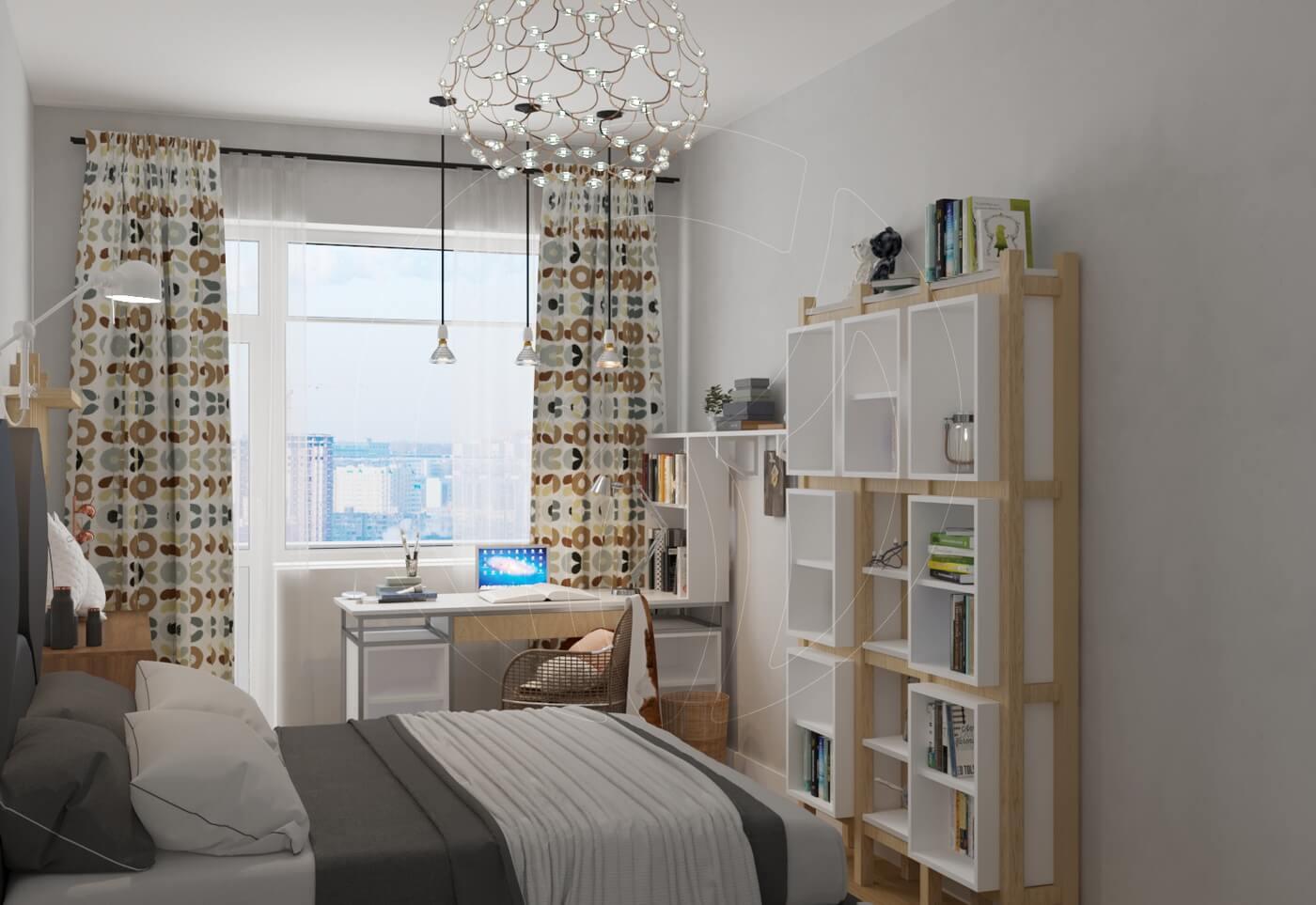 Квартира в скандинавском стиле и стиле LOFT. Детская комната в скандинавском стиле
