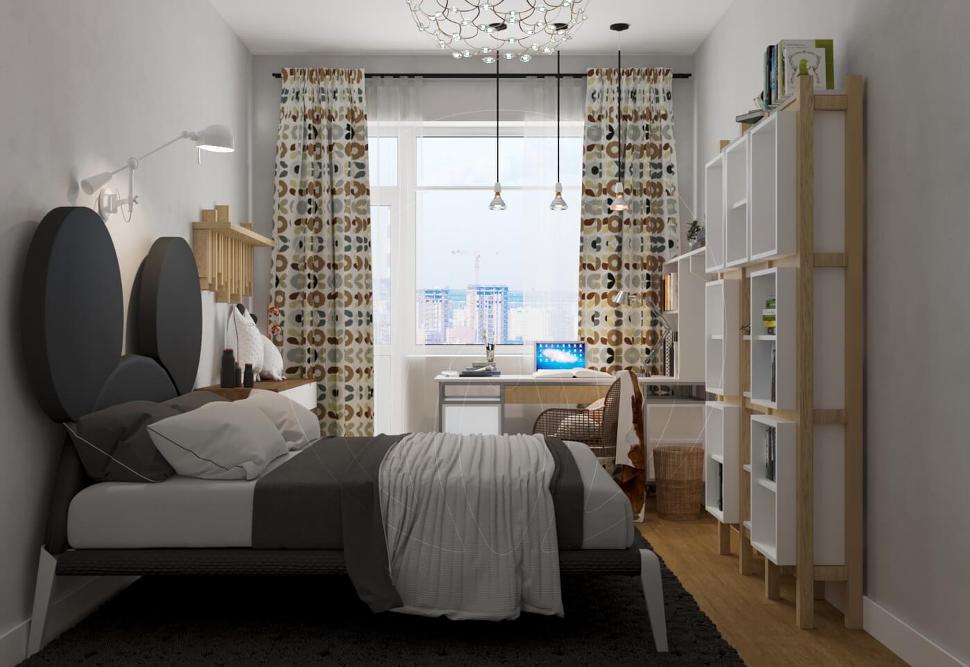 Квартира в скандинавском стиле и стиле LOFT. Детская комната в стиле LOFT и скандинавский стиль