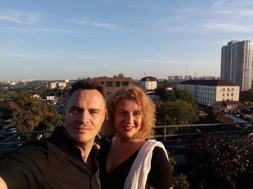 Метроном на крыше ZinCo. Виктор и Ольга Цвиль