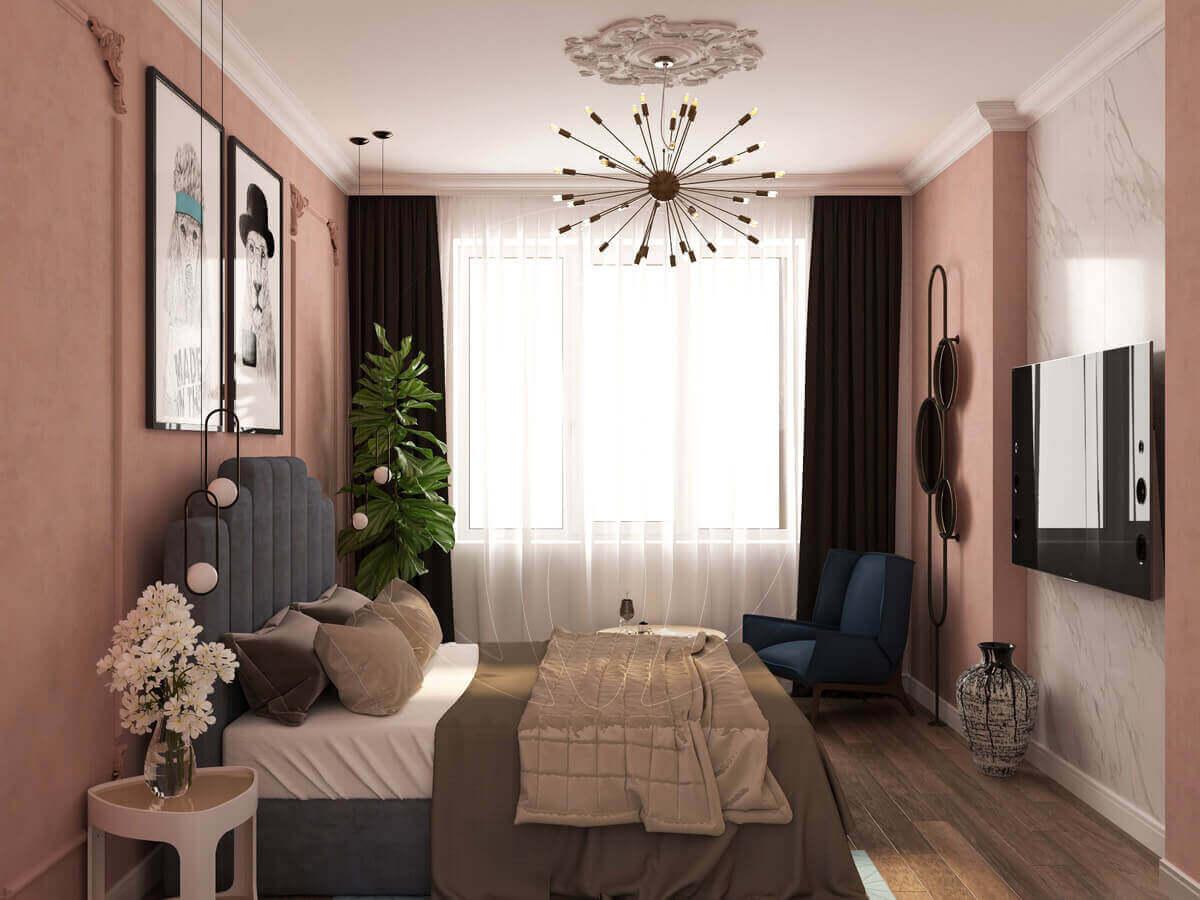 """Квартира в стиле """"современная классика"""". Спальня."""