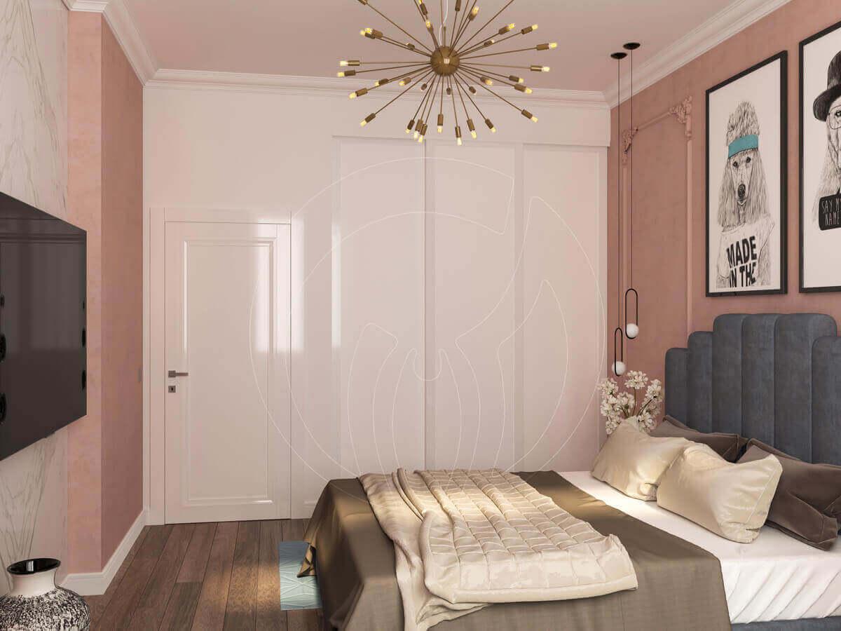 """Квартира в стиле """"современная классика"""". Спальня. Шкаф"""