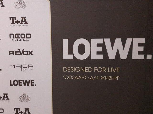 Презентация салона LOEWE.