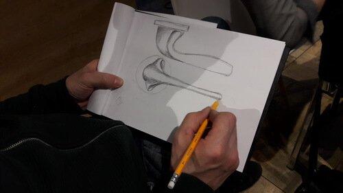 Семинар с Mario Facchetti_Эскиз будущей ручки 2