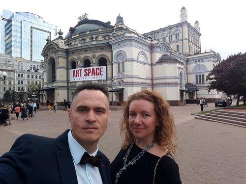 ART SPACE 2019. На фото- Виктор и Ольга Цвиль