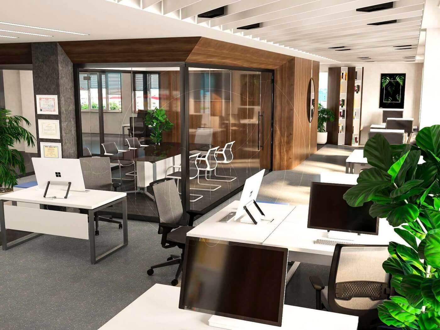 Дизайн офиса в современном стиле_4
