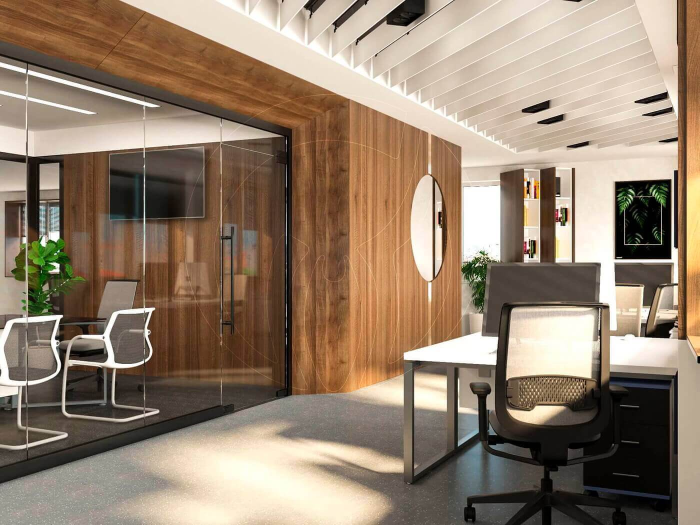 Дизайн офиса в современном стиле_5