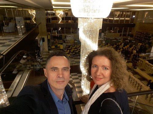 Открытие нового салона Аракс. Виктор и Ольга Цвиль