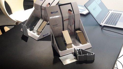 """Презентация Eclisse в салоне Proforma. Варианты цвета анодированного профиля дверной коробки """"40 collection"""""""